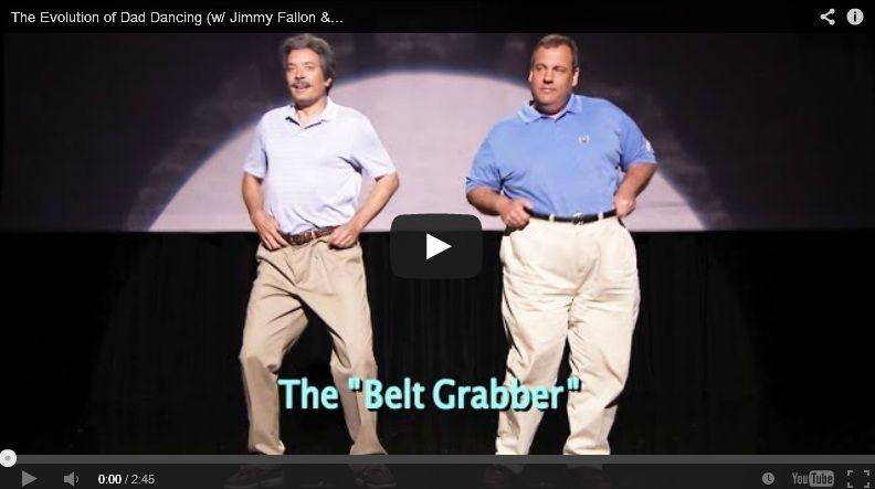 Dad Dancing with Jimmy Fallon & Gov. Chris Christie - http://www.mustwatchnow.com/evolution-dad-dancing-w-jimmy-fallon-gov-chris-christie/