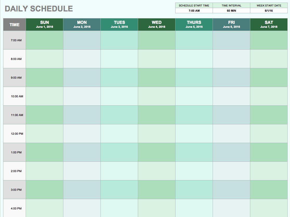Daily Routine Schedule Template Luxury Free Daily Schedule Templates For Excel Smartsheet Daily Planner Template Daily Schedule Template Schedule Templates
