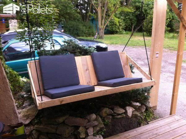 Easy Diy Tutorial Build Install One Pallet Swing Bench Tuin