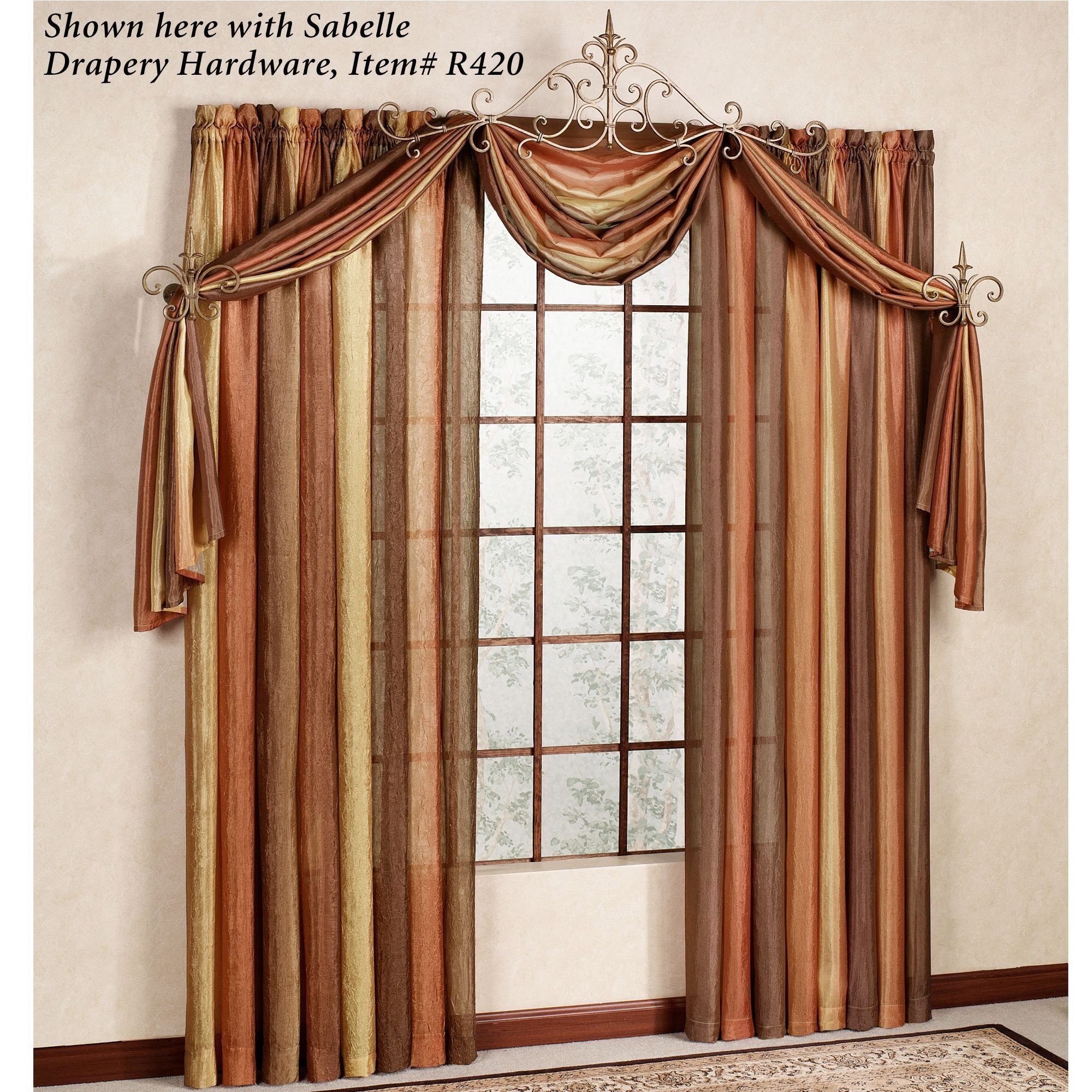 Ordinary Sheer Scarf Valance Window Treatments Part - 6: Ombre Semi-Sheer Scarf Valance And Window Treatments