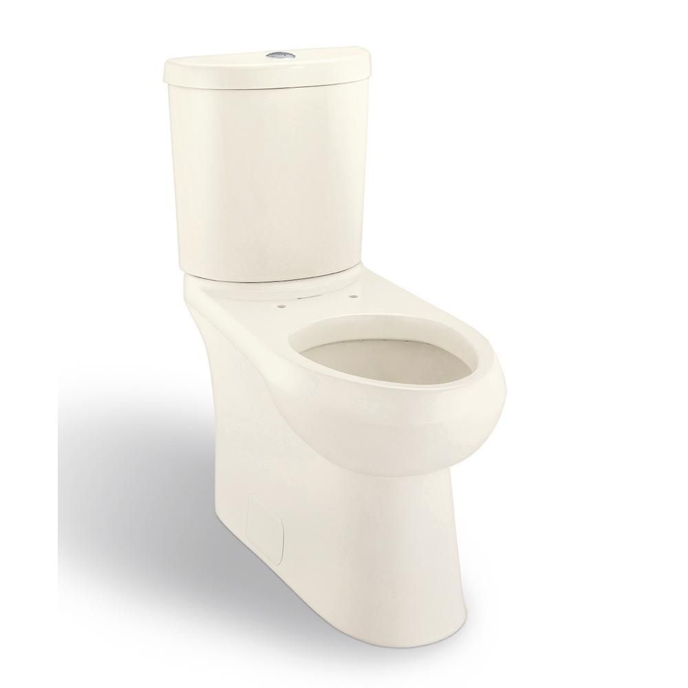 Glacier Bay Concealed Trapway 2 Piece 1 1 Gpf 1 6 Gpf Dual Flush Elongated Toilet In Biscuit N2441e Bisc Toilet Toto Toilet Kohler Toilet