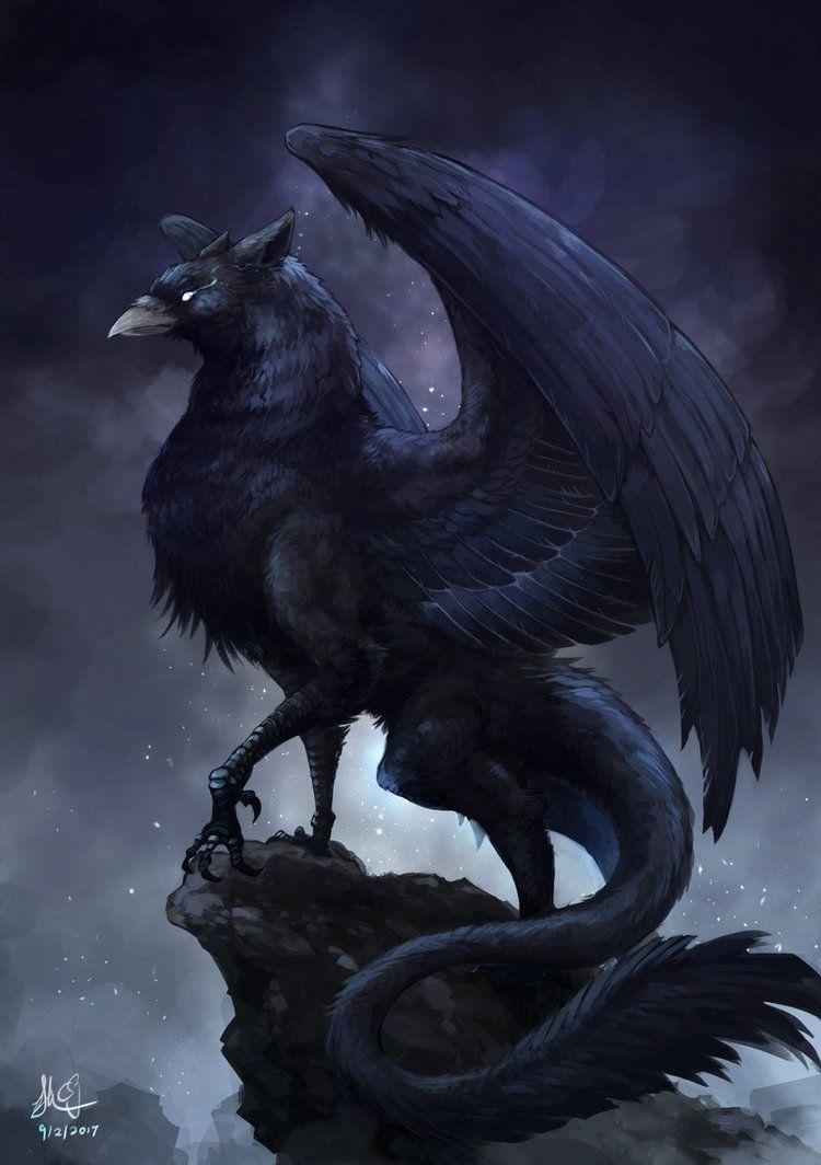 Dark Griffin by CPoring | Phoenix, Feonix, Firebird in ...