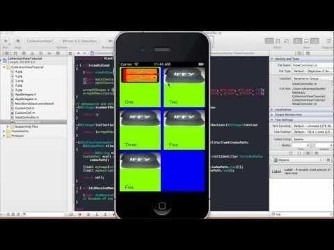 Collection View Tutorial - Xcode 4 5 1 - YouTube | ios | Ios