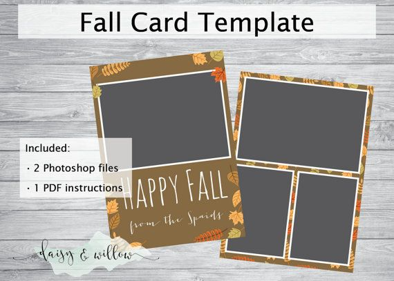 Happy fall greeting card fall photoshop template autumn family happy fall greeting card fall photoshop template autumn family photo card 5x7 template m4hsunfo
