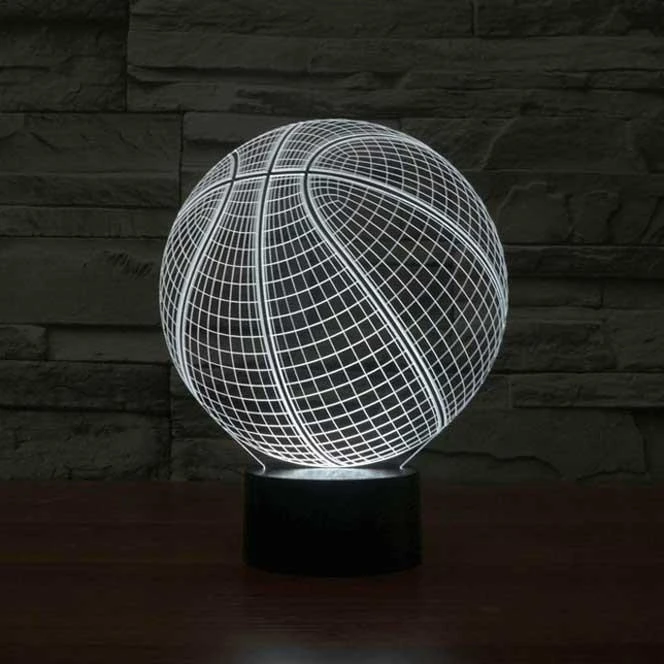 Basketball 3d Illusion Lamp In 2020 3d Illusion Lamp Lamp 3d Led Lamp