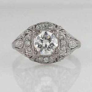 Vintage Wedding Rings 1920 1920s 1930s brilliant round antique