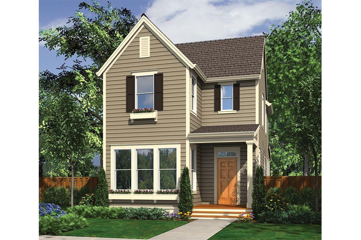 House Plan 2559 00212 Narrow Lot Plan 1 689 Square Feet 3 Bedrooms 2 5 Bathrooms In 2020 Narrow Lot House Plans Country Style House Plans Narrow House Plans