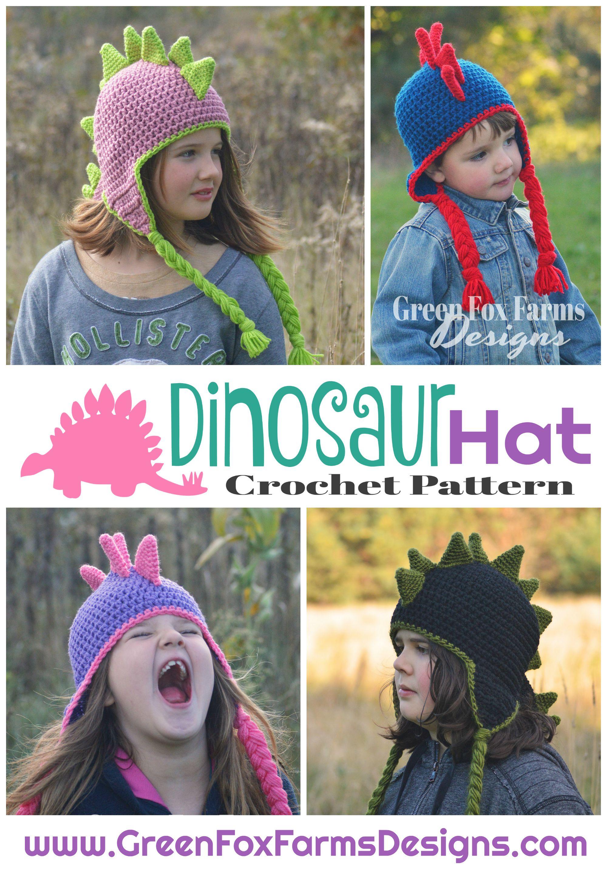Dinosaur Hat - New Pattern Release and SALE | Pinterest | Dinosaur ...