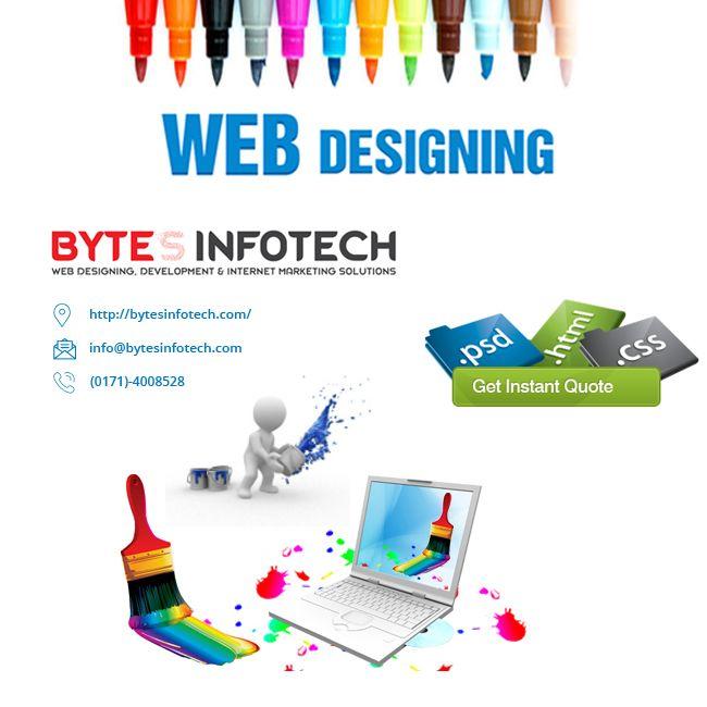 Bytesinfotech Best Website Designing Company Agency In Chandigarh India Offers Website Developm Fun Website Design Web Design Services Professional Web Design