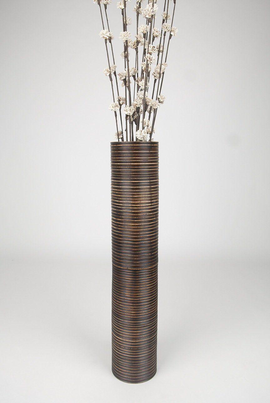 Decorative Tall Floor Vase Wood Height 75cm Brown Amazon Co