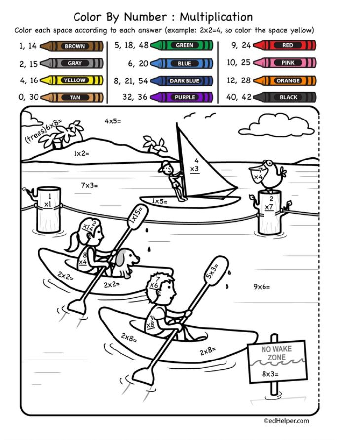 Multiplication Worksheets Educational Coloring Pages