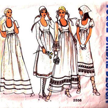Vogue Bridal Design 2556 / Vintage sewing from hurdyburdy vintage ...