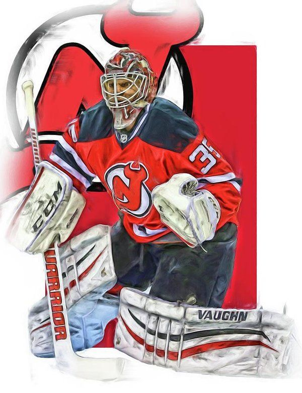 Cory Schneider Print featuring the mixed media Cory Schneider New Jersey Devils Oil Art by Joe Hamilton