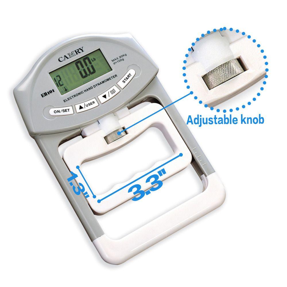 Digital Hand Dynamometer Grip Strength Measurement Meter worldwide free delivery