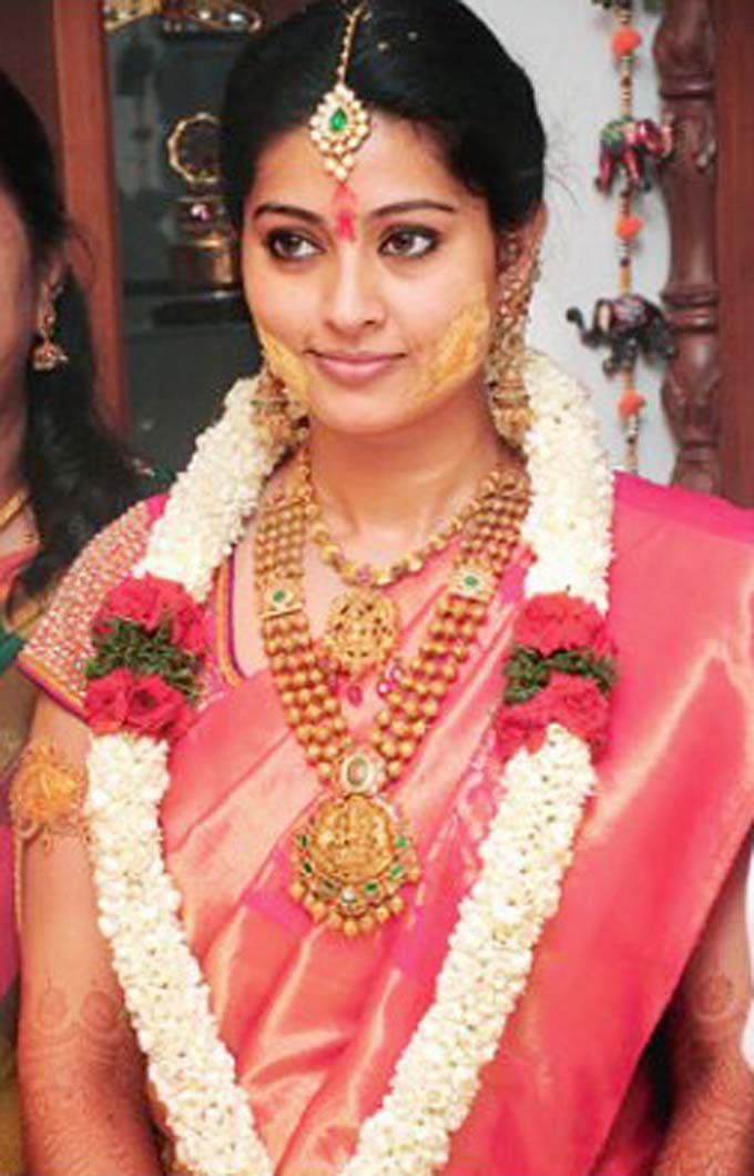 Sneha Nalangu Function Jewellery   South indian bride, Saree and ...