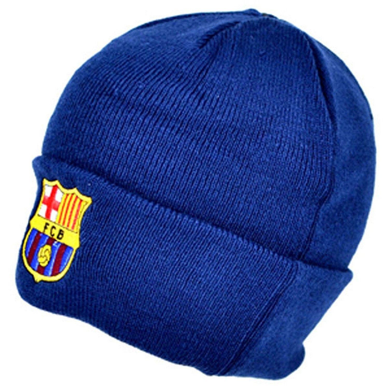 d8d06e26cea FC Barcelona Official Knitted Winter Soccer Football Crest Beanie Hat -  Navy - CR12GCJT3AV - Hats   Caps