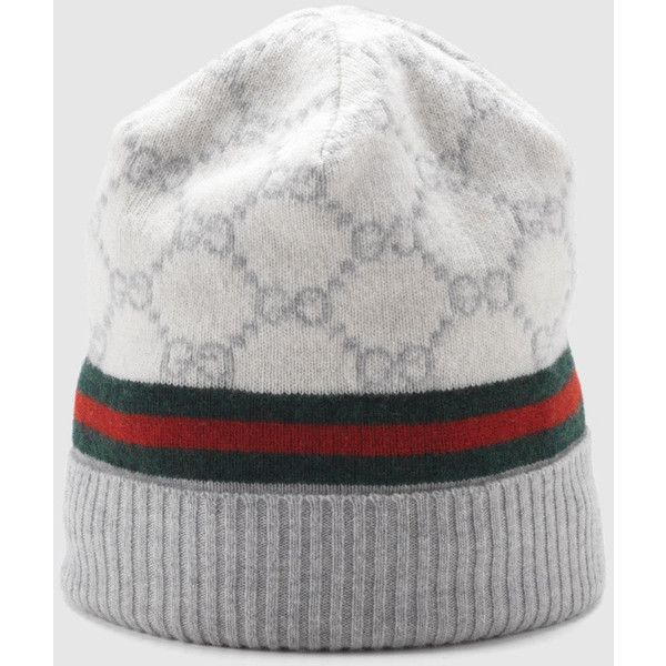 12ab09149ef Gucci GG pattern hat with web detail featuring polyvore