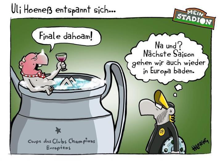 Finale dahoam. | Hilbring für Karstadt sports | Comics ...