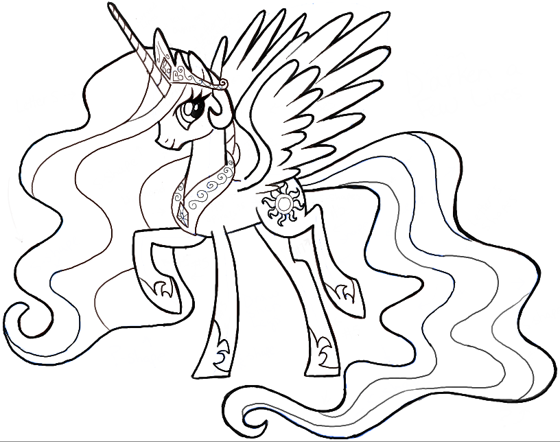 How To Draw Princess Celestia From My Little Pony Friendship Is Magic How To Draw Step By Step Drawing Tutorials My Little Pony Coloring Princess Drawings Princess Coloring Pages