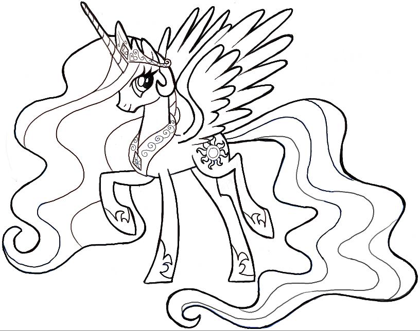 How to Draw Princess Celestia from My Little Pony