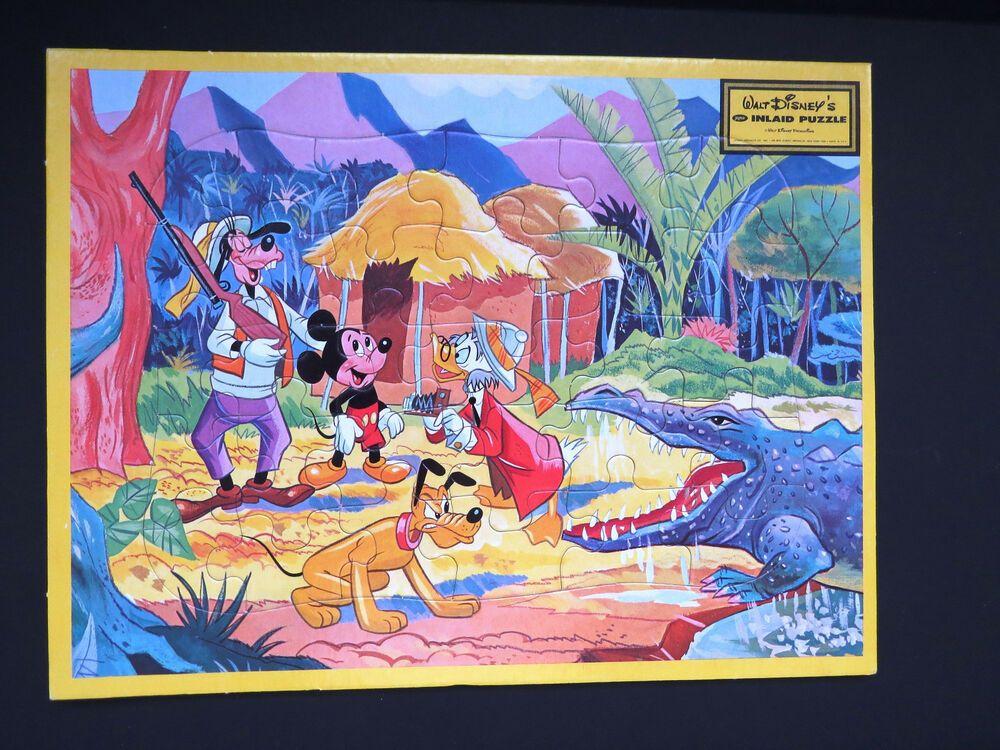Nos Vintage Mickey Mouse Frame Tray Puzzle By Jaymar Ludwick Goofy Pluto Safari Disney Vintage Mickey Mouse Mickey Mouse Frame Vintage Mickey