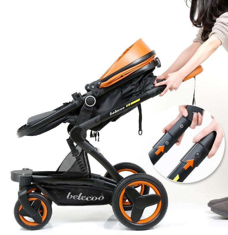 Belecoo Luxury Baby Stroller 2 in 1