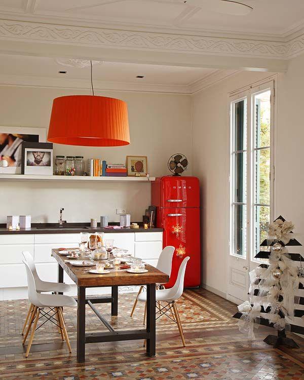 Retro-inspired Barcelona flat with cozy interiors   Decorar tu casa ...