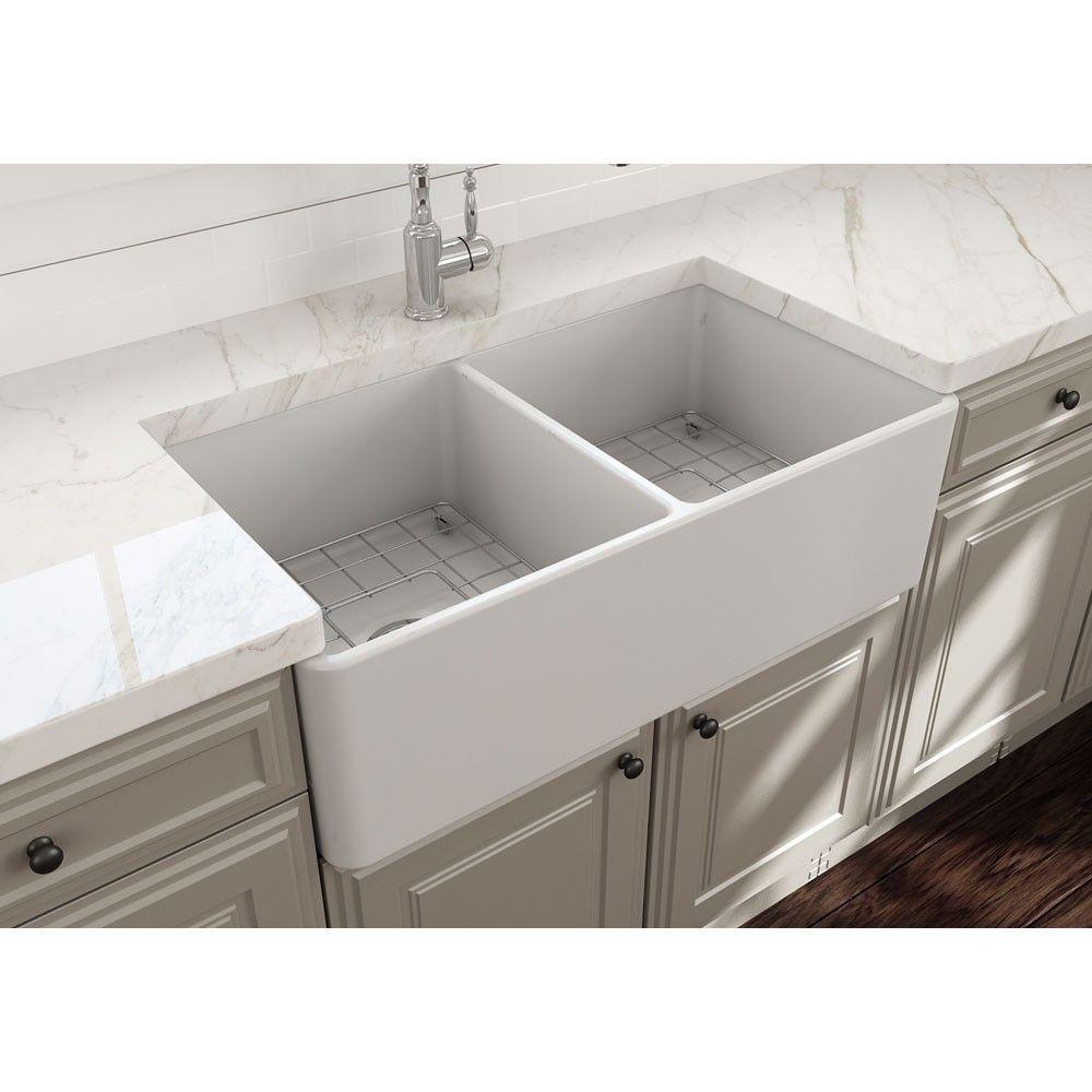 Bocchi 11390120 apron 33 single bowl kitchen sink