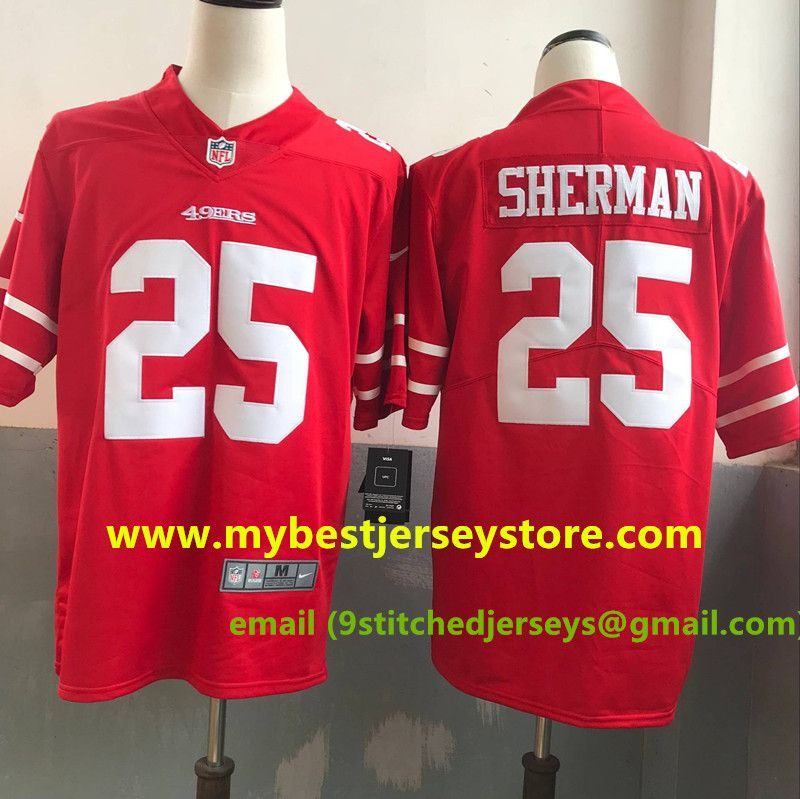 another chance ebeca 09af1 Men's Nike Richard Sherman Scarlet San Francisco #49ers ...