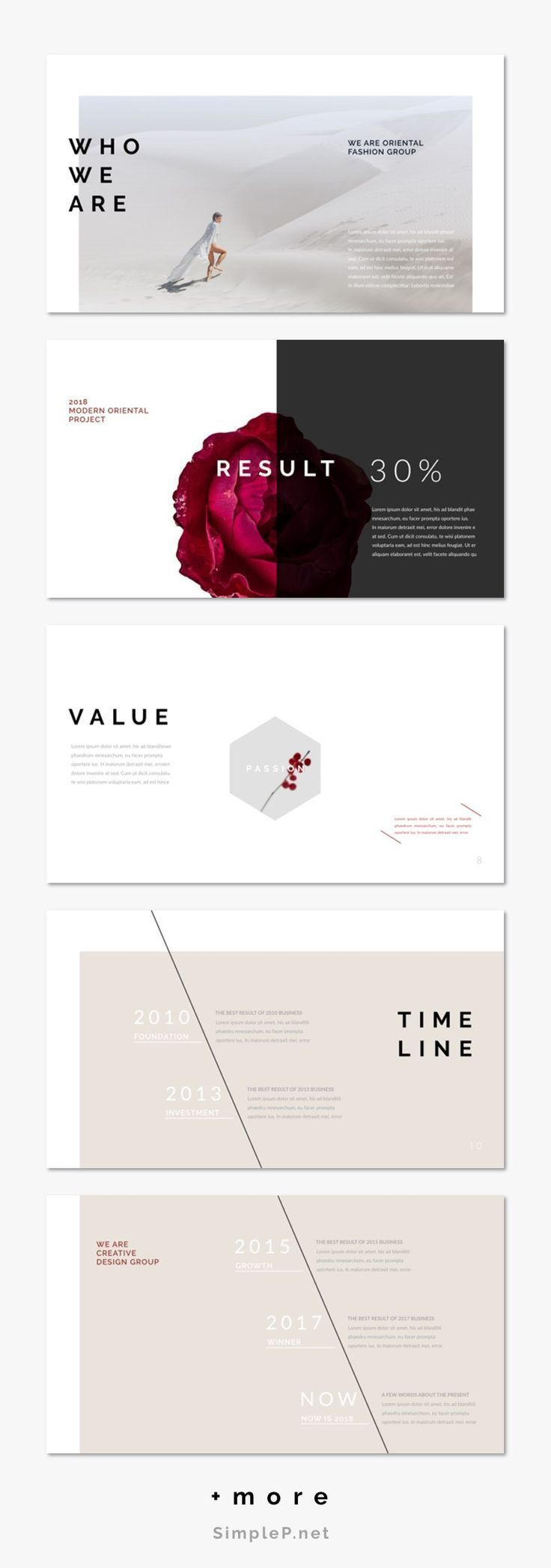 Fashion Business Powerpoint Presentation Template #oriental #layout #fashion #proposal #portfolio #freereadingincsites