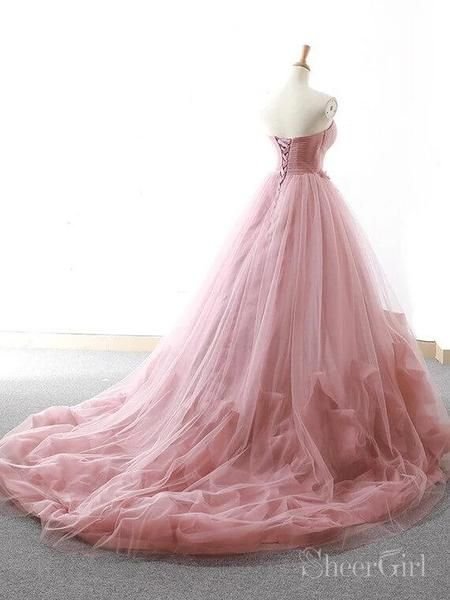 300fc87465f Dusty Rose Ball Gown Prom Dresses Cheap Sweet 16 Princess Quinceanera Dress  ARD2051-SheerGirl