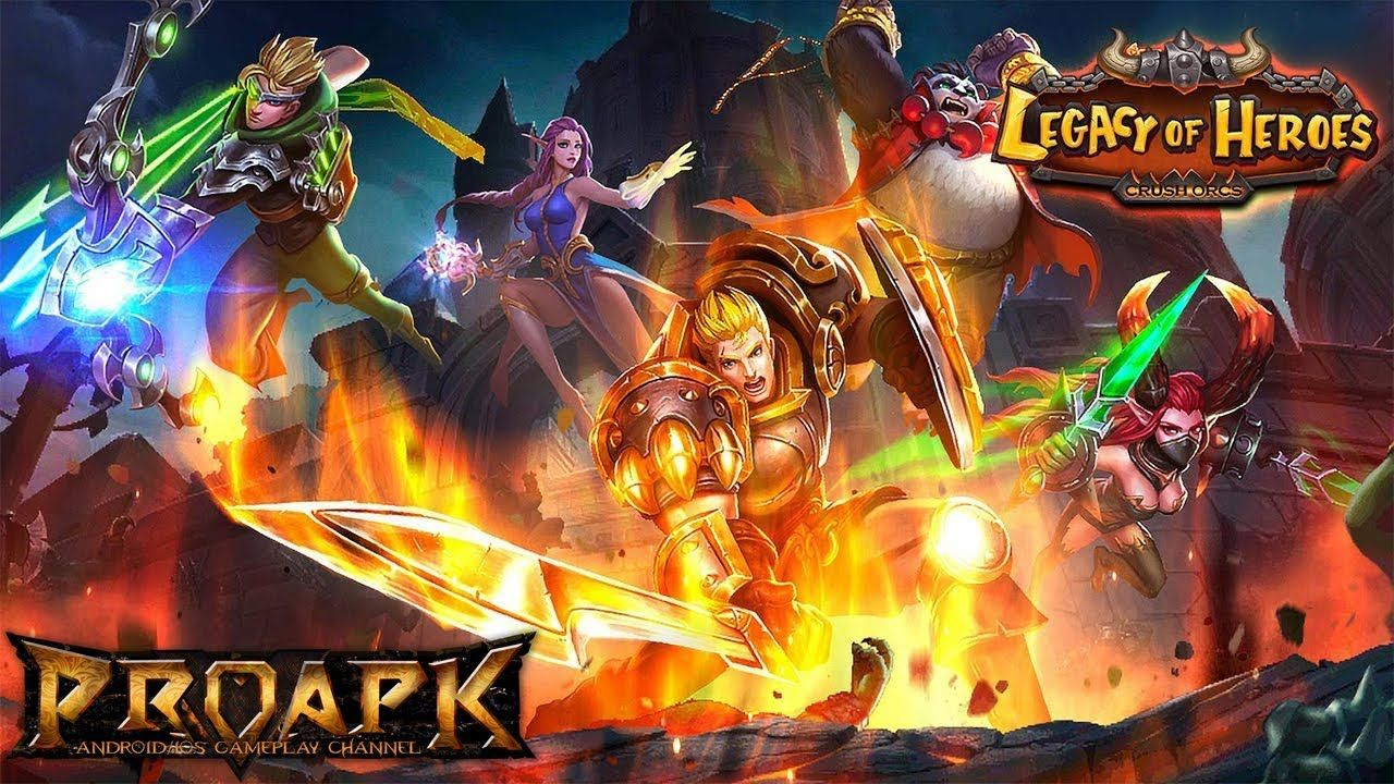 Legacy Of Heroes Gameplay Android Ios Hero Legacy Android Games