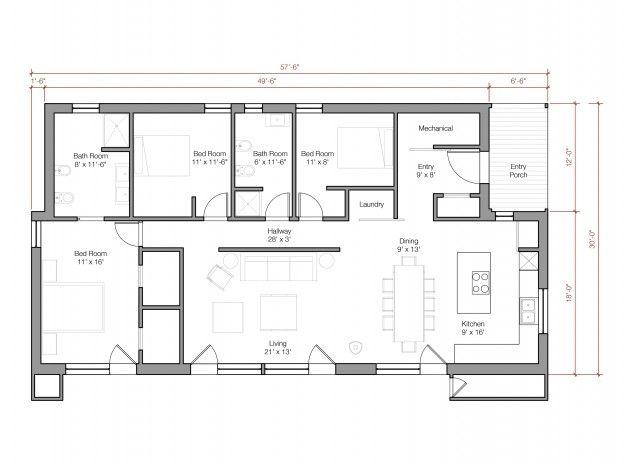 Small Shed House Floor Plans: GO Logic Shed 1600 SF Prefab Home