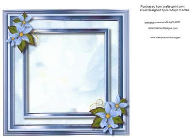 Incert Floral blue  on Craftsuprint - Add To Basket!