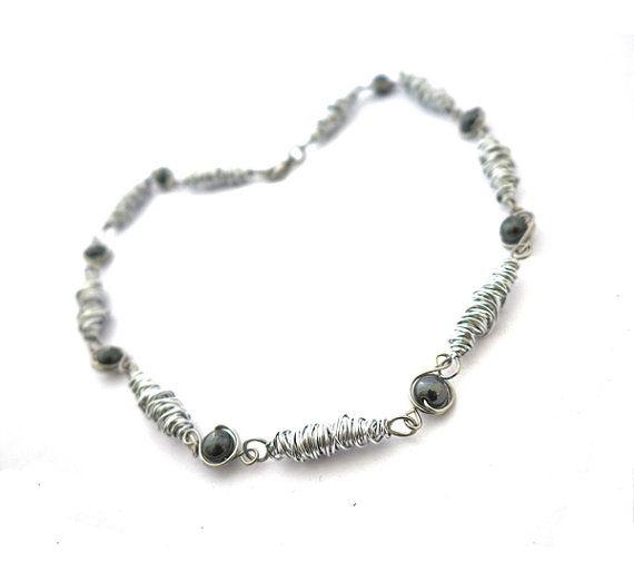 Wire wrapping aluminum necklace aluminum wire wrap 6mm door deBATjes