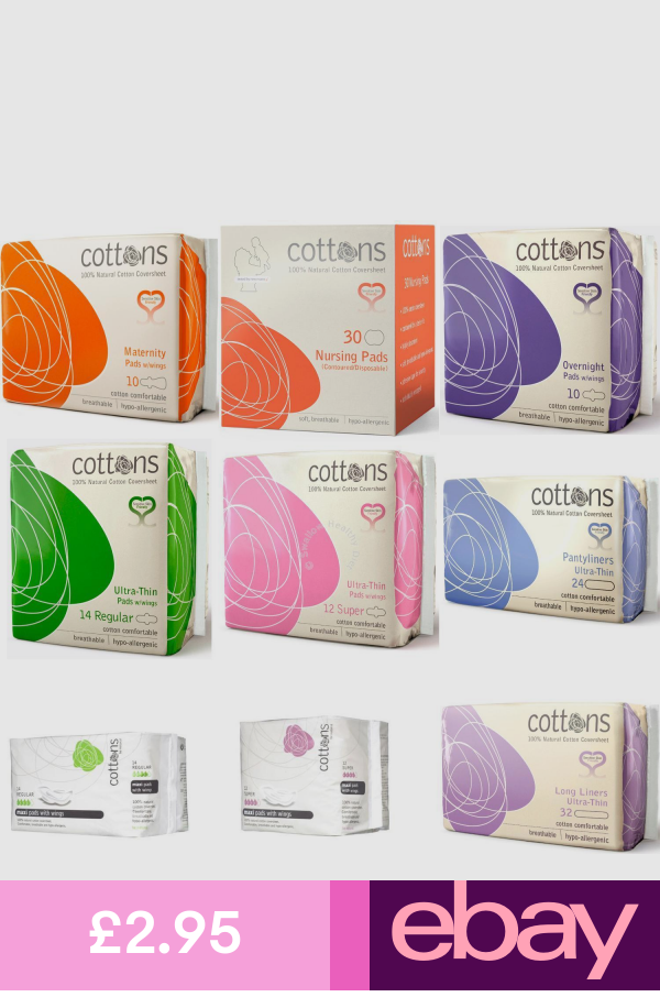 Cottons 100 Cotton Sanitary Pads With Wings Hypo Allergenic Sensitive Natural Sanitary Pads Brands Sanitary Pads Sanitary Towels