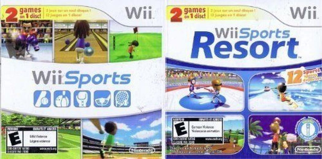 Nintendo Wii Sports & Resort 2 Games on 1 Disc Bundle Rare