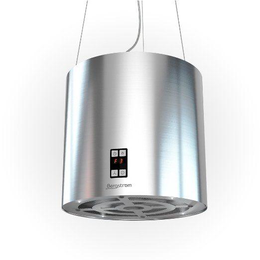 Flache Dunstabzugshaube Umluft bergstroem design inselhaube dunstabzugshaube freihängend edelstahl