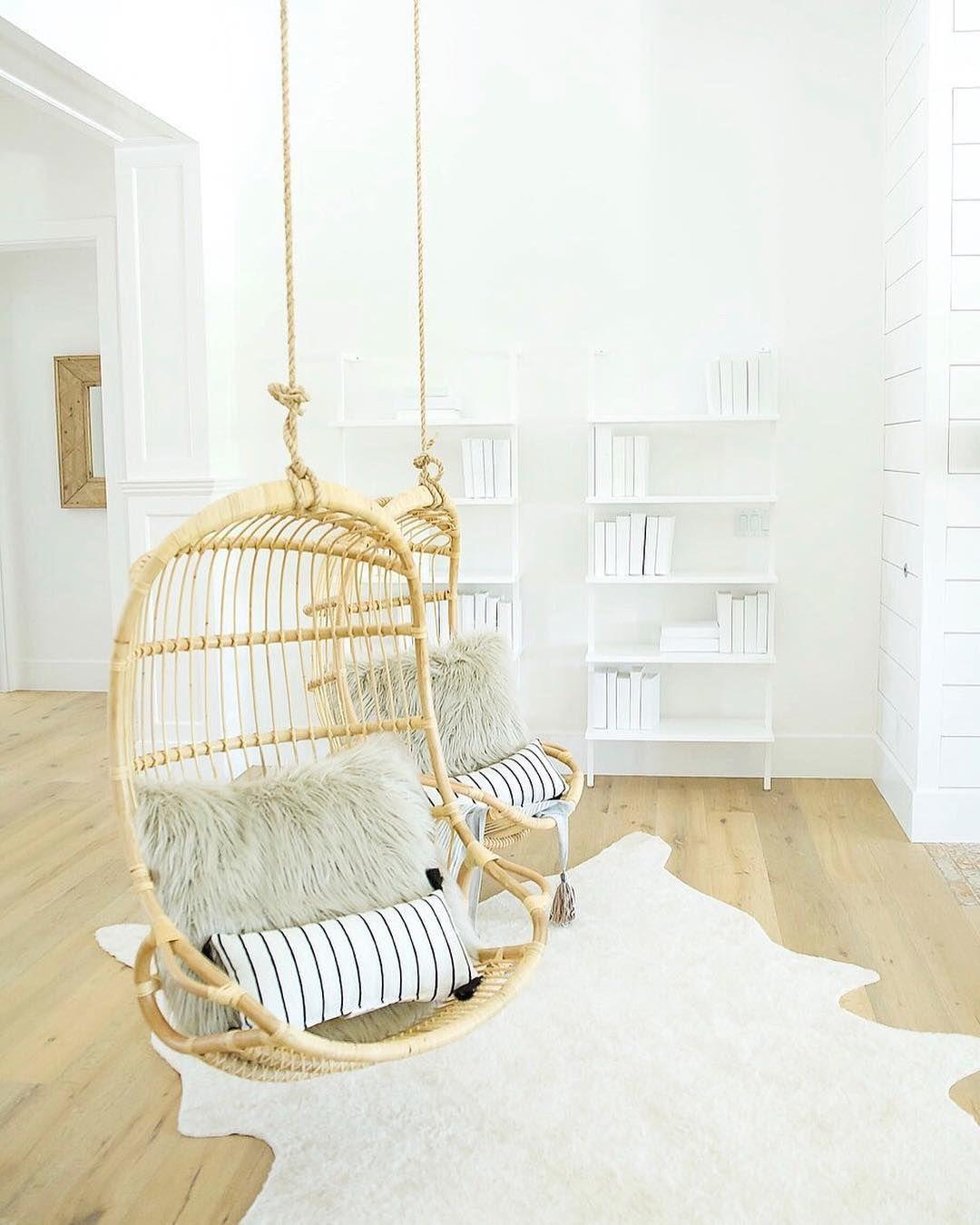 Image Via @lifestyledco | Hanging Rattan Chair Via Serena U0026 Lily