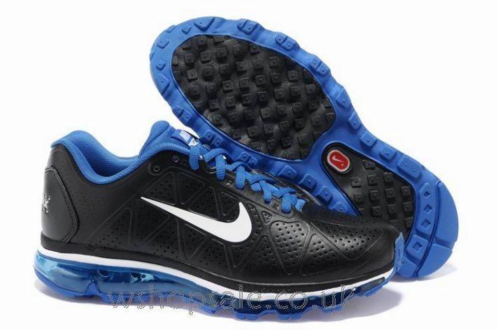 35b0dc7e4bbc Buy Nike Air Max 2011 Leather Men s Black White-Royal UK