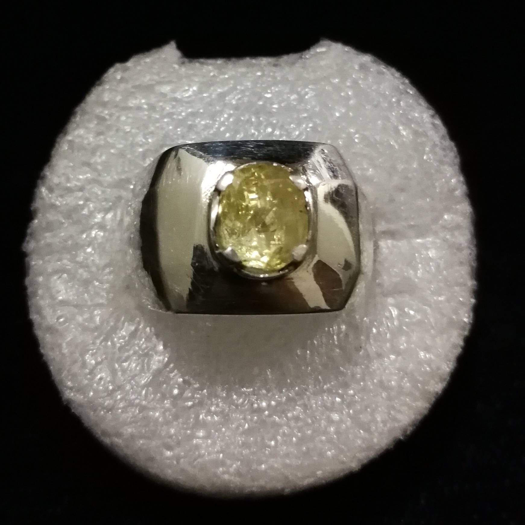 Brilliant Yellow Sapphire Pukhraj Silver Ring For Men And Women Great Luster From Ceylon Srilanka Yellow Sapphire Yellow Sapphire Rings Rings For Men