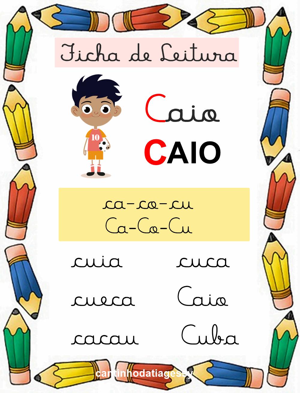 Fichas De Leitura Em Letra Cursiva Alfabetizacao Em 2020