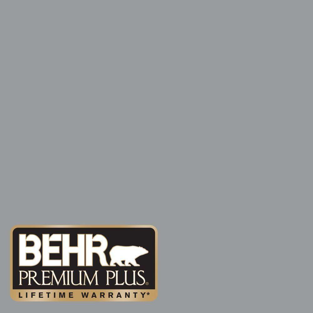 Behr premium plus 8 oz n500 4 pencil sketch flat zero voc interior exterior paint and primer in one sample