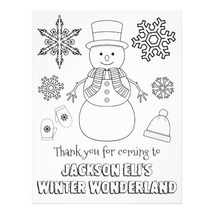 Winter Wonderland Coloring Page Coloring Sheet Zazzle Com