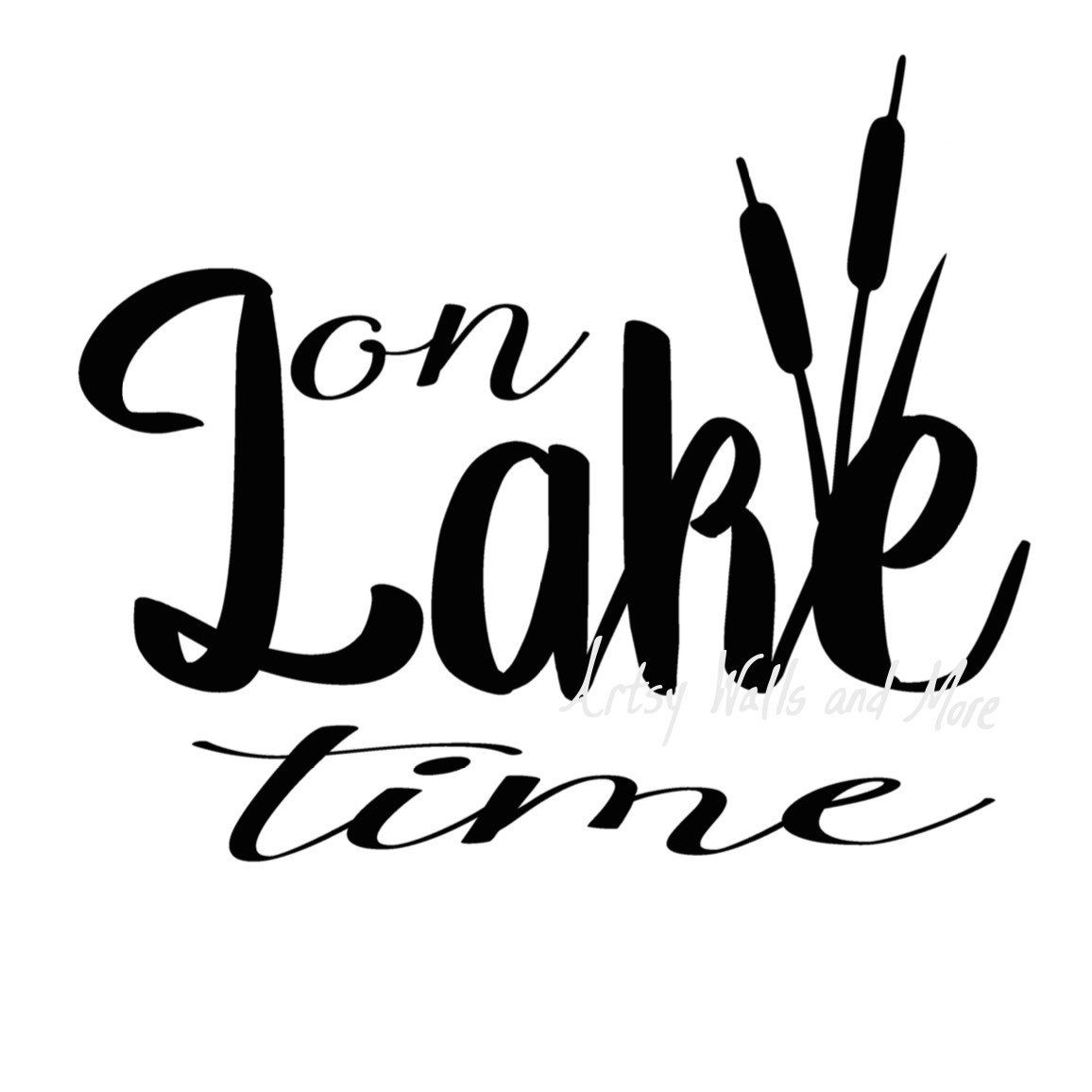 On Lake Time Svg On Lake Time With Cattails Svg