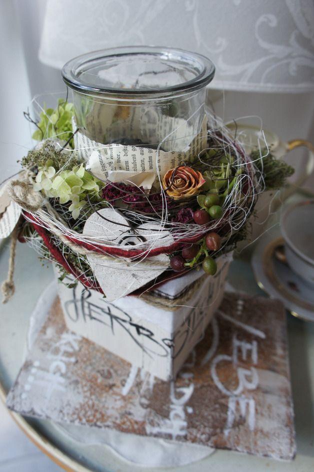 Jahreszeitentisch - HerbstDeko  Herbstlicht.... - ein Designerstück von Hoimeliges bei DaWanda #herbstdekotisch