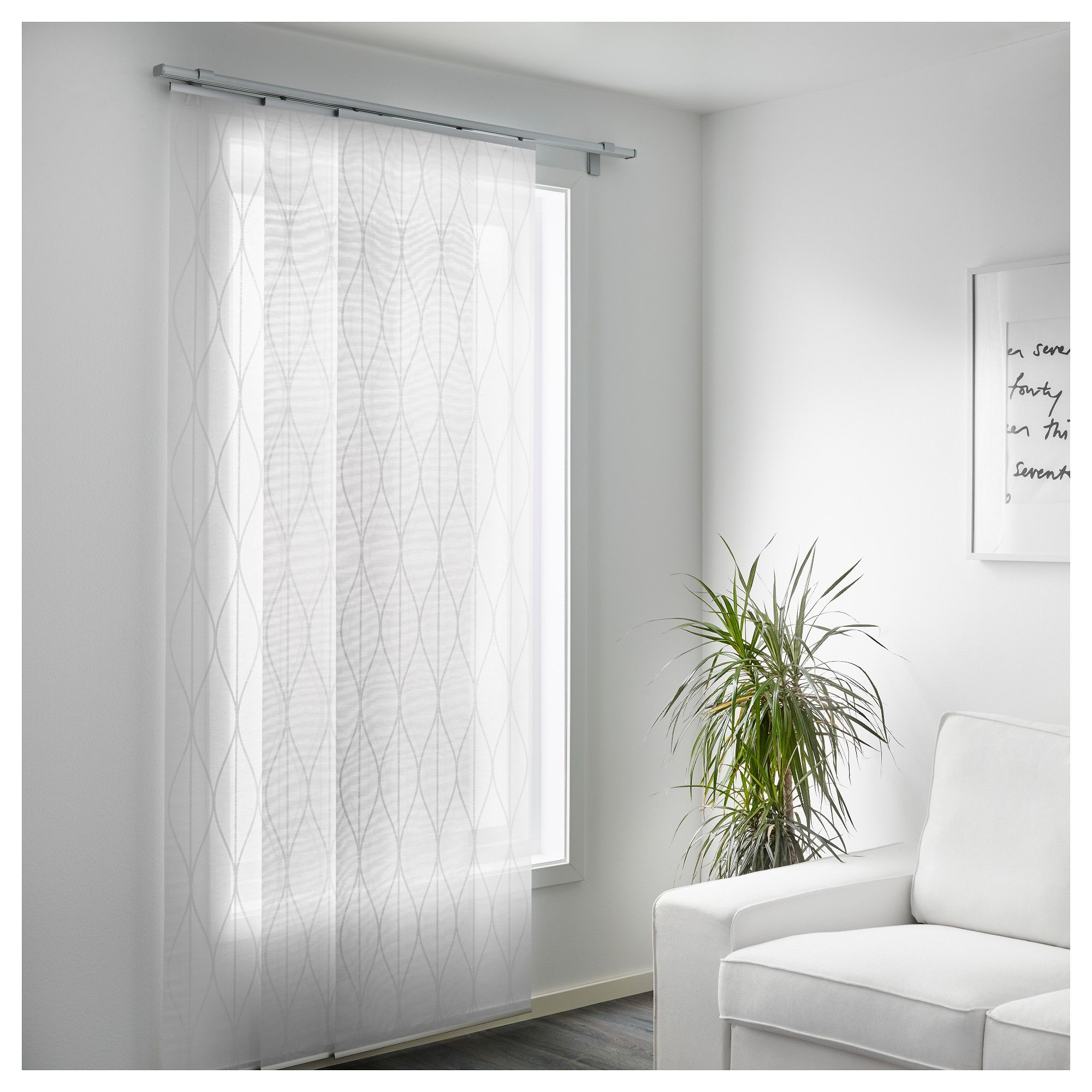 panel curtain window white ikea grynet curtains pin and storage