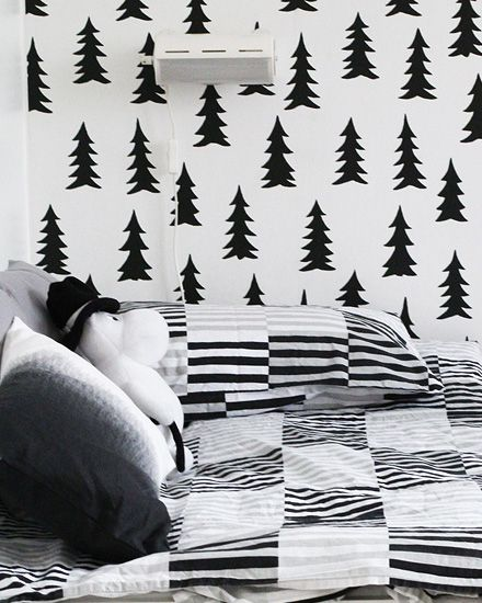Une chambre pour enfant en noir et blanc Interiors