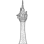 Rapunzel S Tower Tangled Coloring Pages Rapunzel Tower Tangled Tower