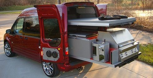 custom tailgate transit connect ford transit connect pinterest camping car fourgon et campeur. Black Bedroom Furniture Sets. Home Design Ideas